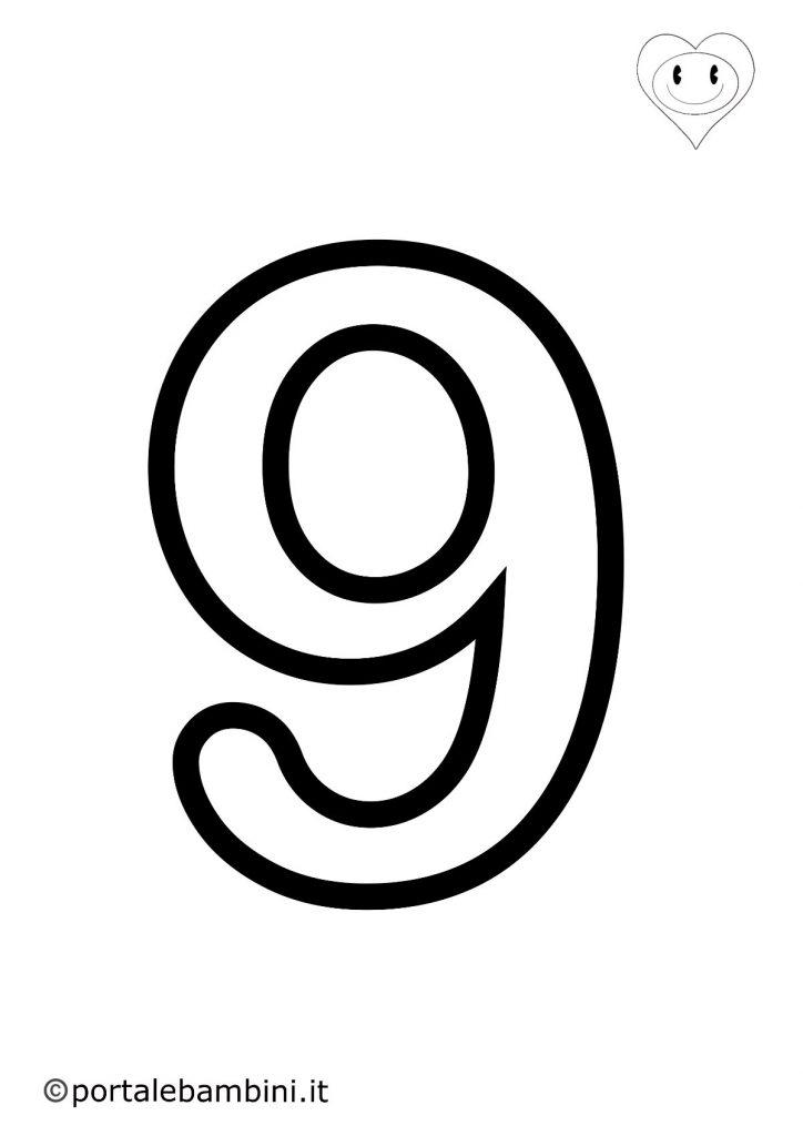 numeri da colorare 9