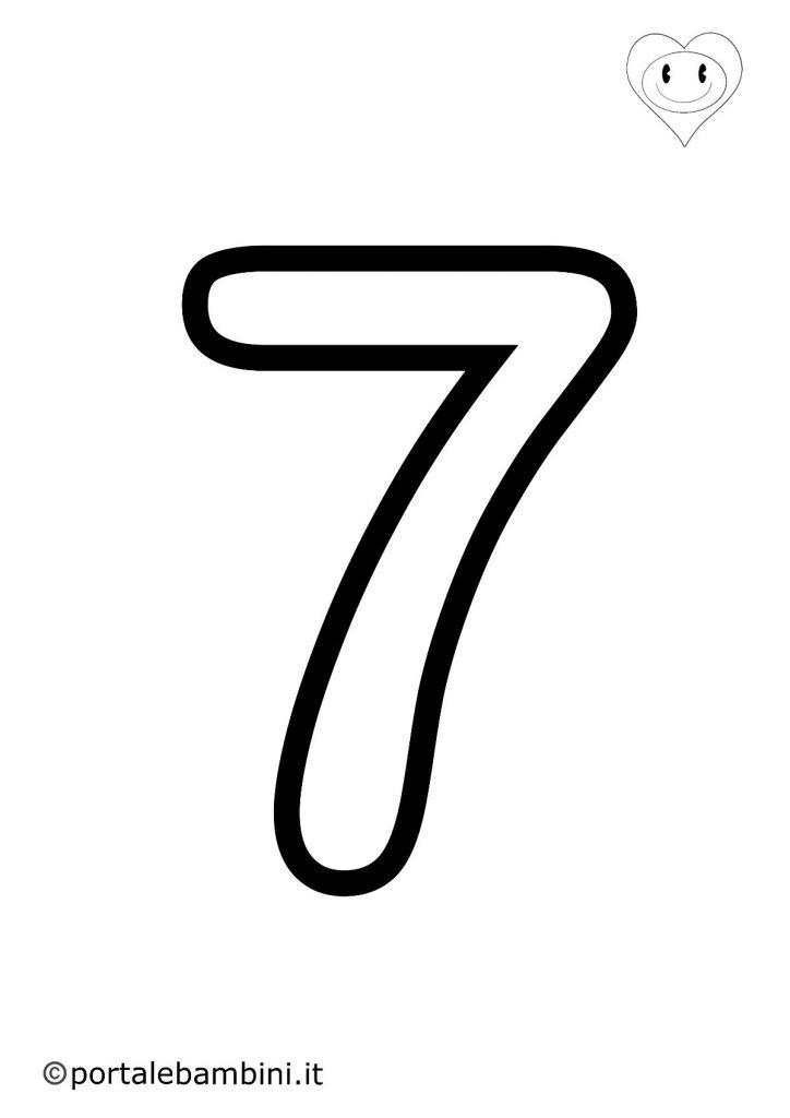 numeri da colorare 7