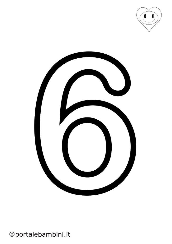 numeri da colorare 6