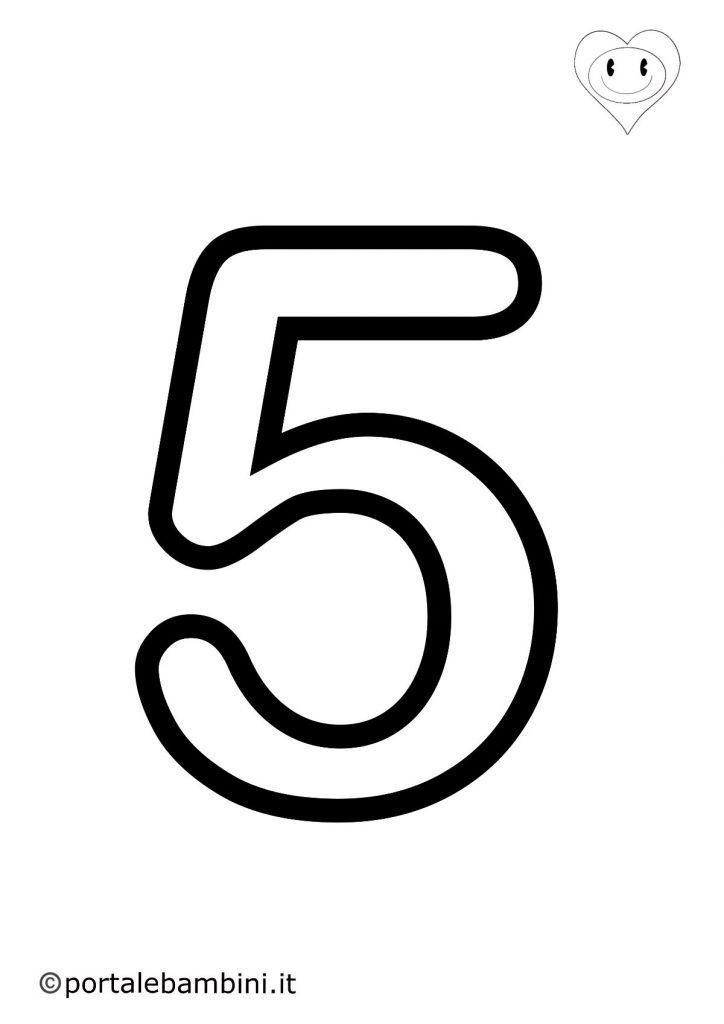 numeri da colorare 5