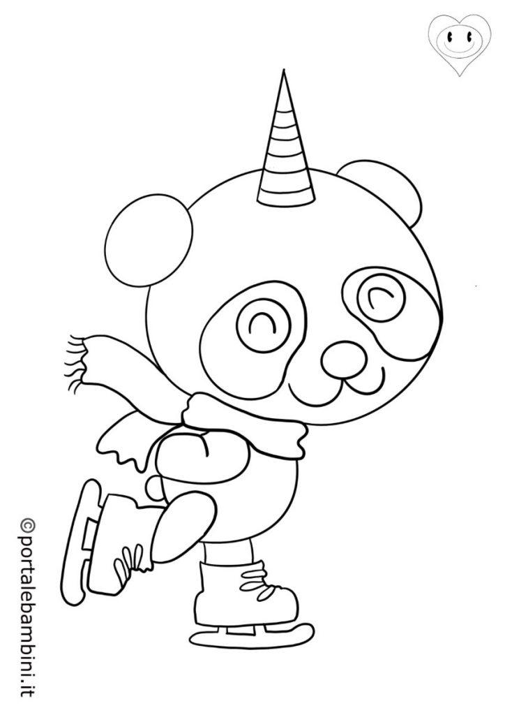 pandacorni da colorare 4