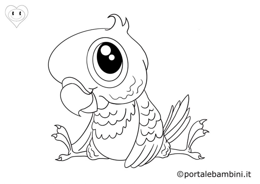 pappagalli da colorare 4