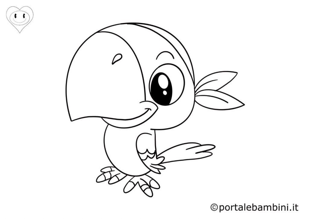 pappagalli da colorare 6