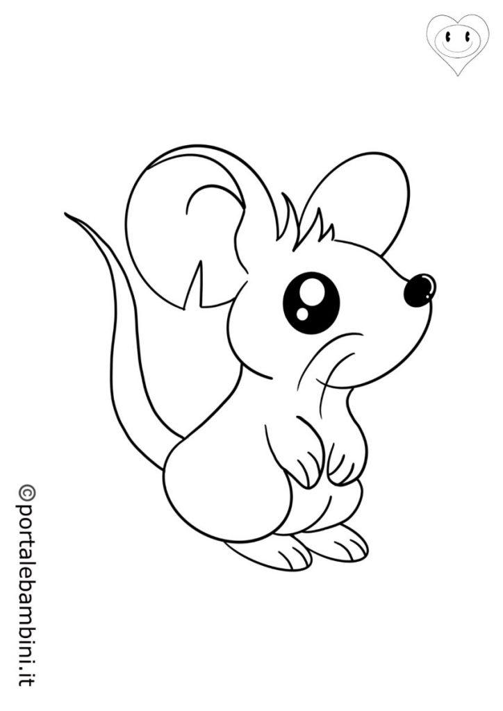 mammiferi da colorare topolini