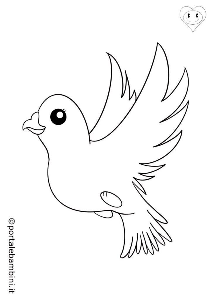 uccelli da colorare colombe