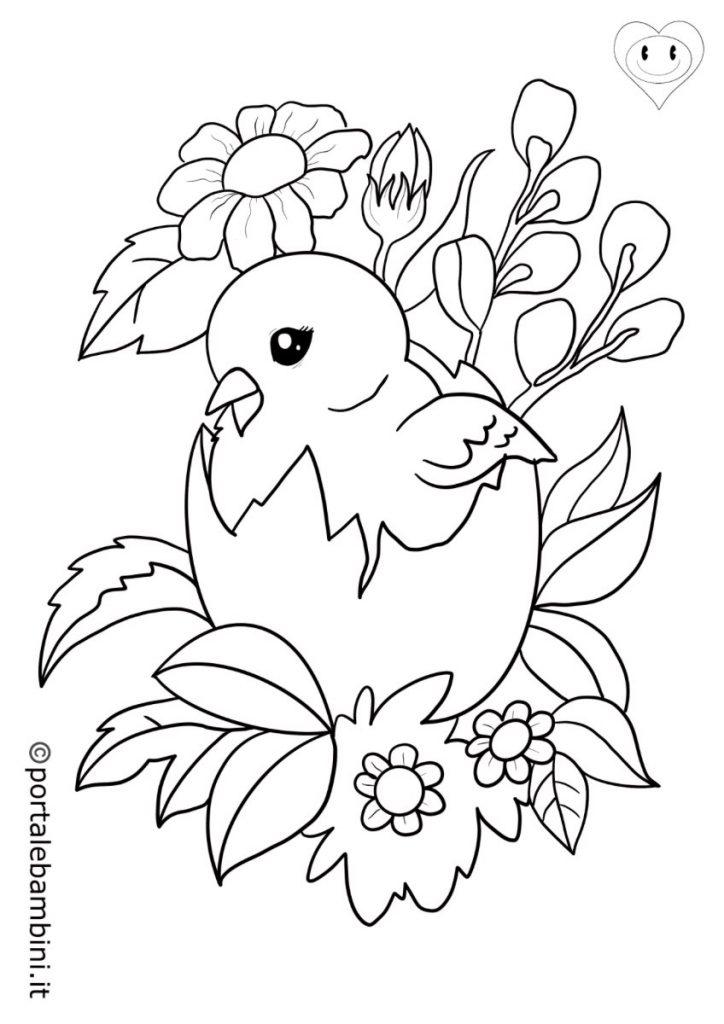 uccelli da colorare pulcini