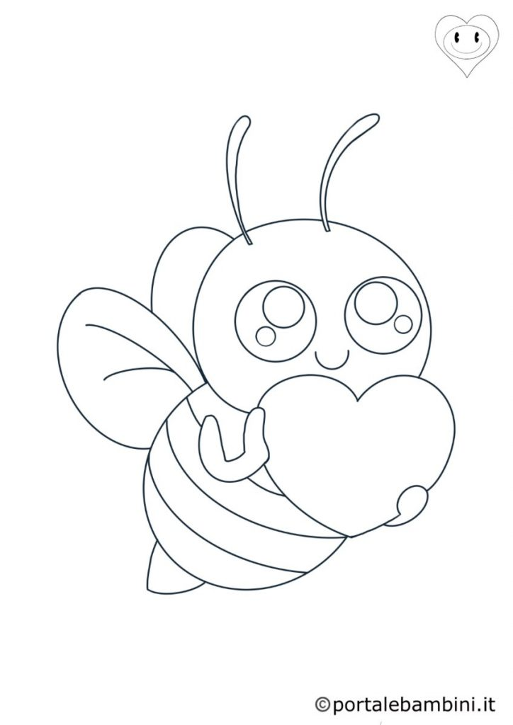 insetti da colorare api
