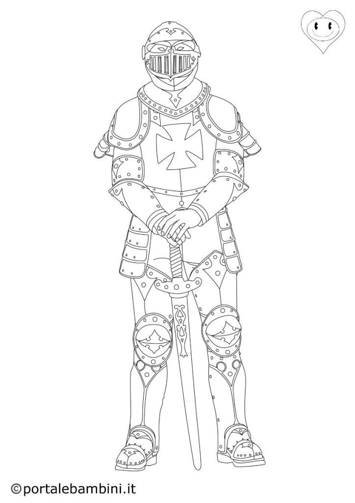 cavalieri da colorare 2