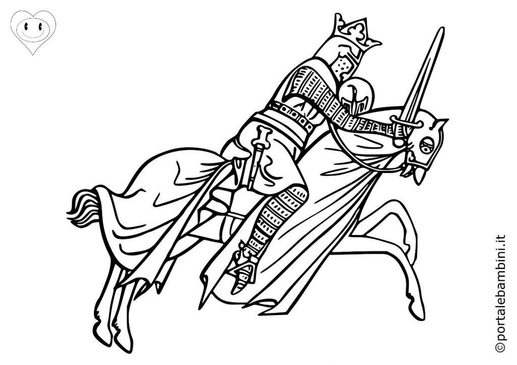 cavalieri da colorare 4