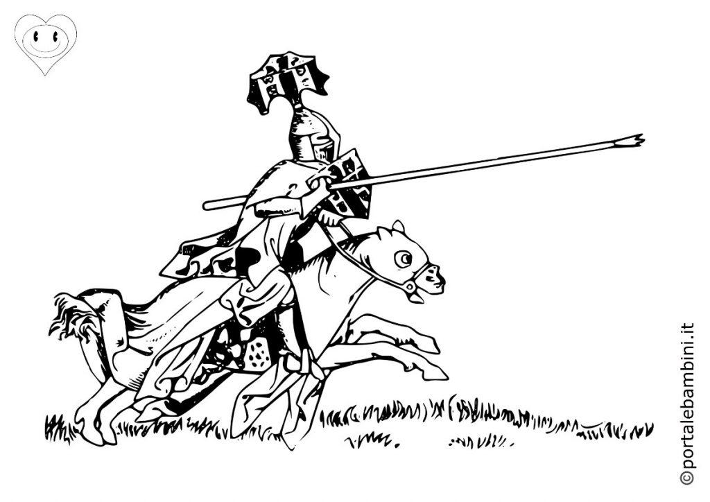 cavalieri da colorare 6
