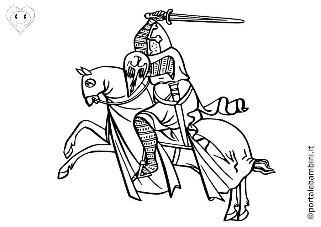 cavalieri da colorare 5