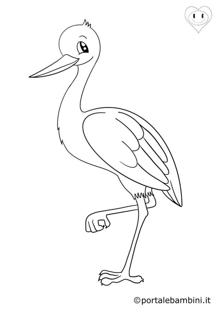 uccelli da colorare cicogne