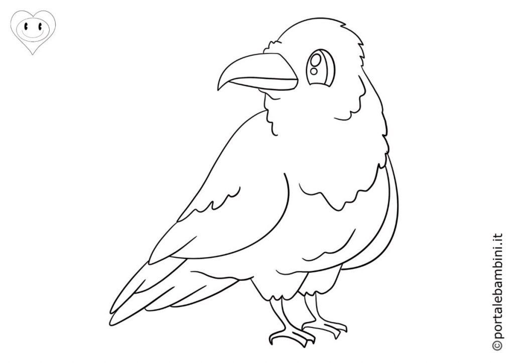 corvi da colorare 1
