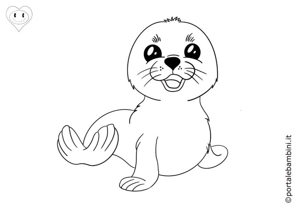 foche da colorare 2