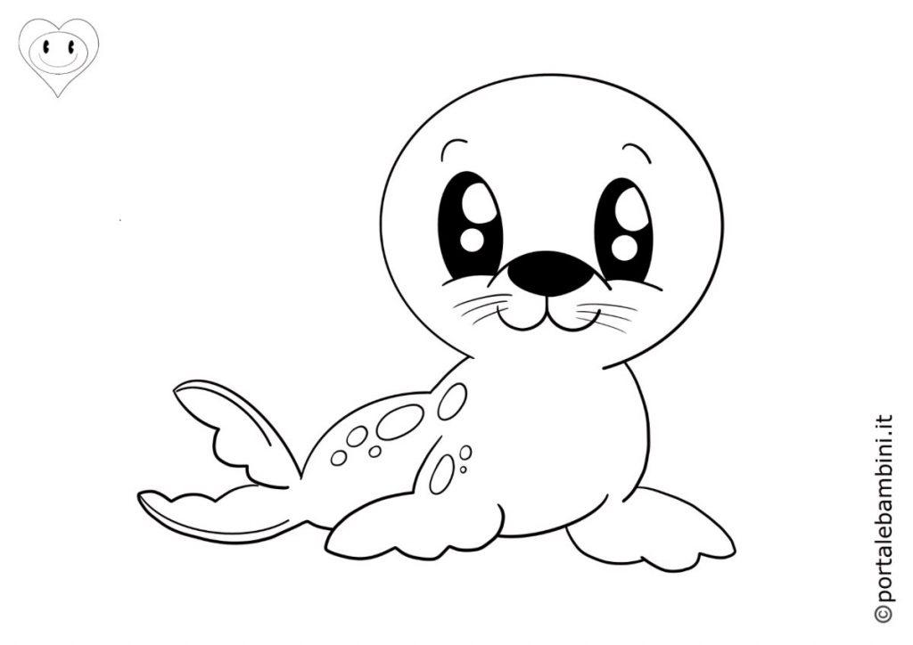 foche da colorare 3