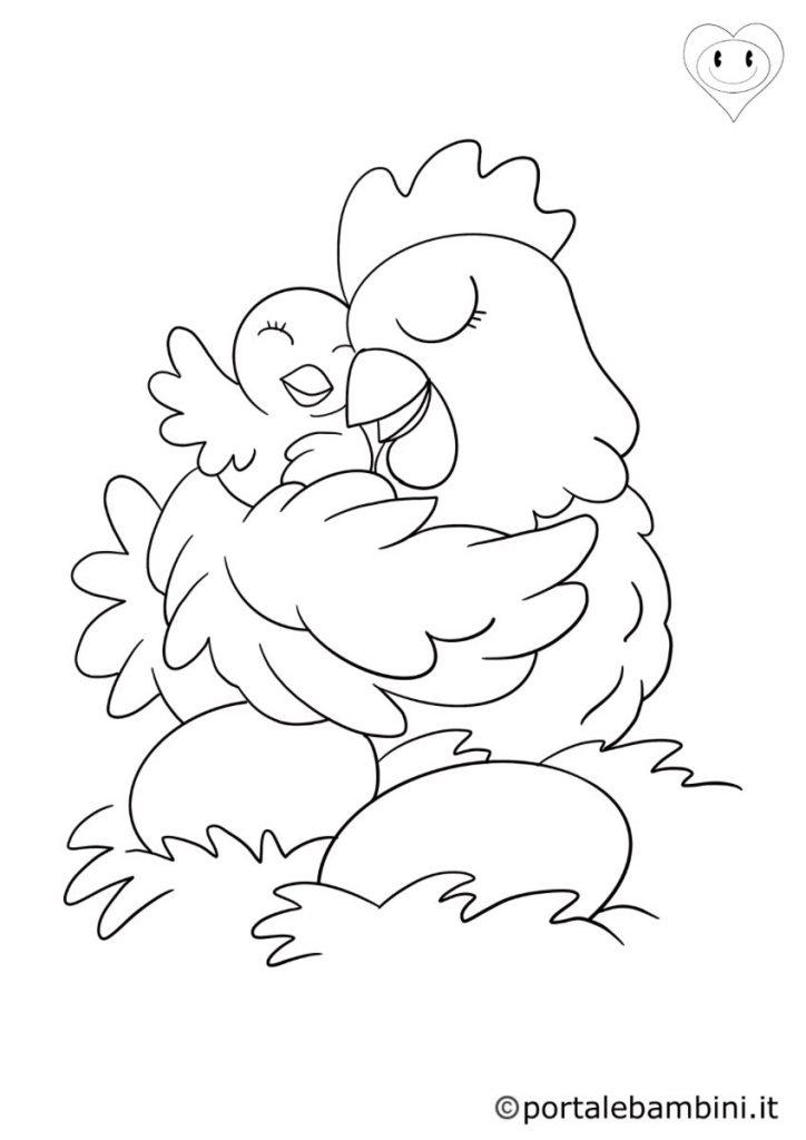 uccelli da colorare galline