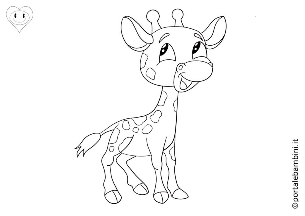 giraffe da colorare 3