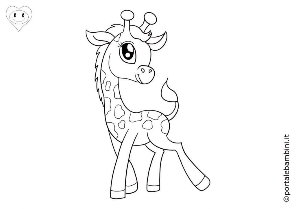 giraffe da colorare 1