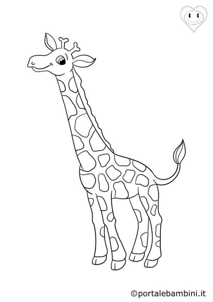 giraffe da colorare 4