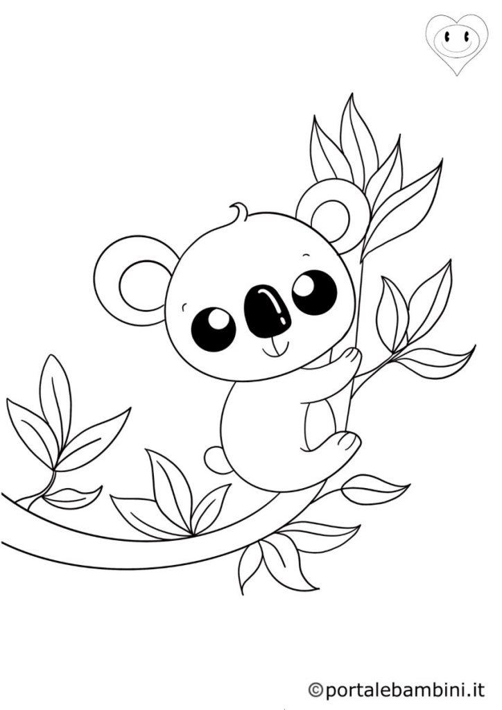 koala da colorare 2