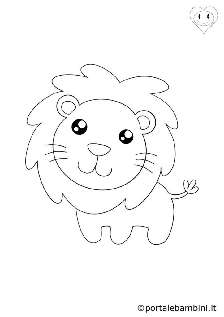 leoni da colorare 5