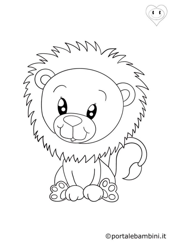 leoni da colorare 4