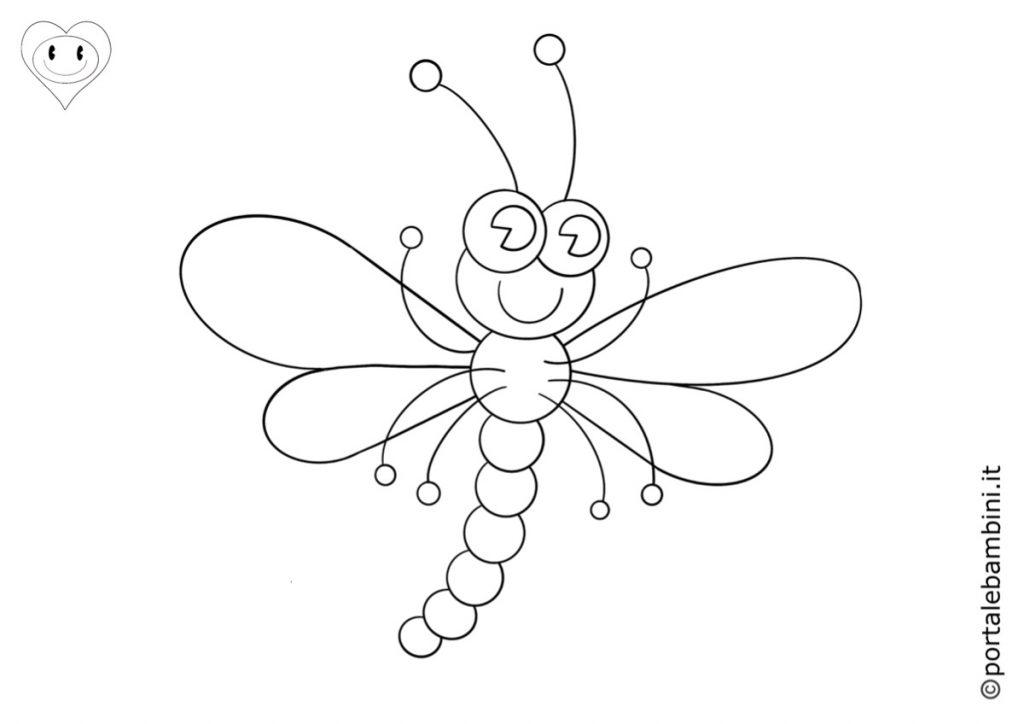 insetti da colorare libellula