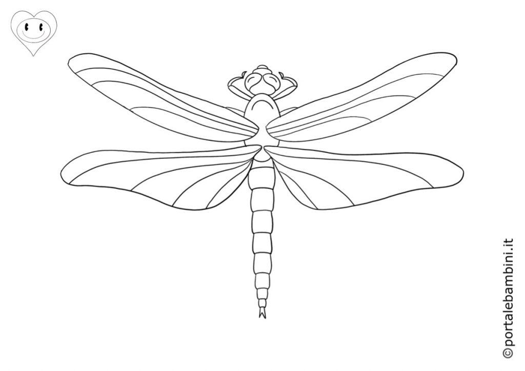 libellula da colorare 2