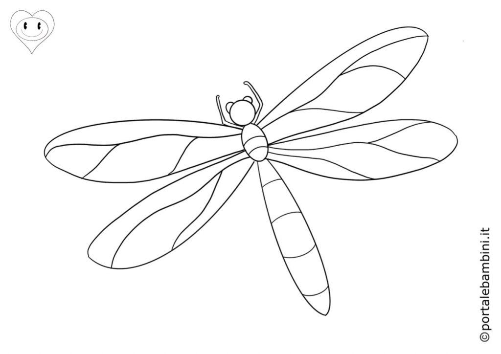 libellula da colorare 3