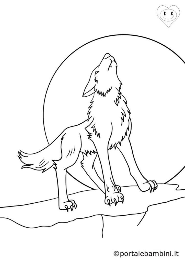 lupi da colorare 2