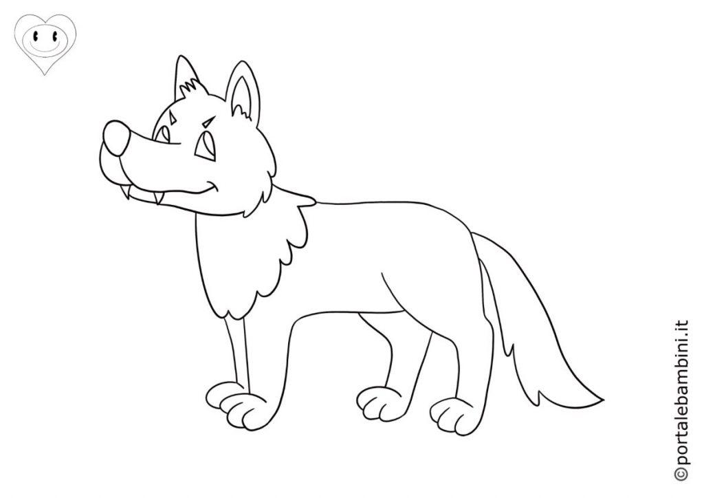 lupi da colorare 6