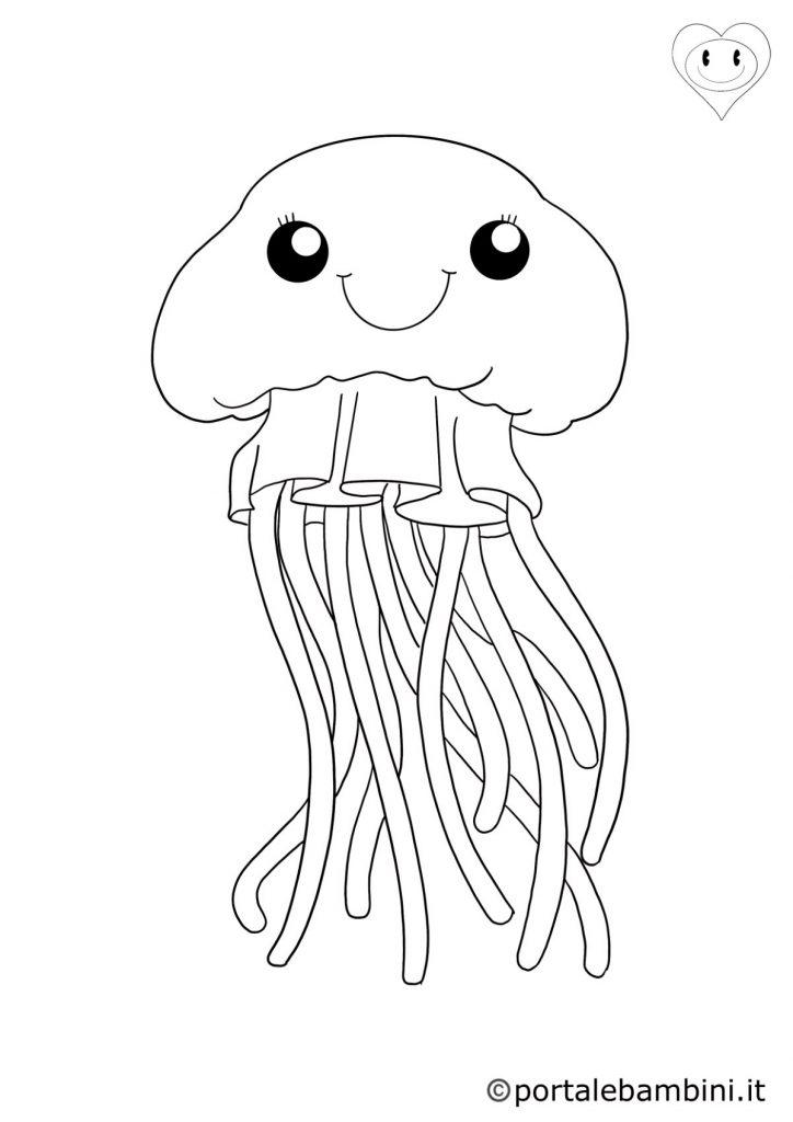 animali del mare da colorare meduse