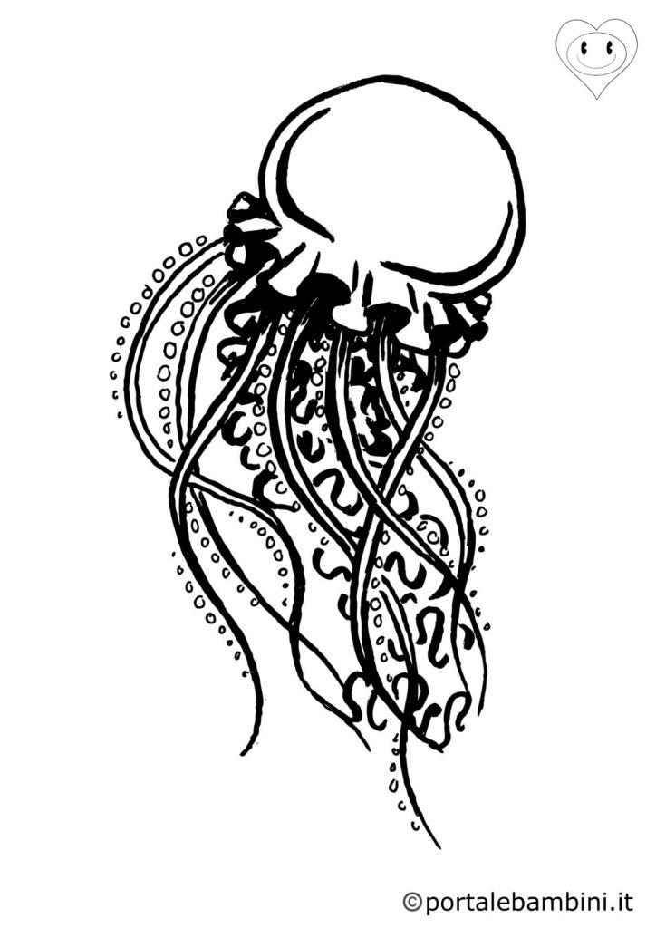 meduse da colorare 2
