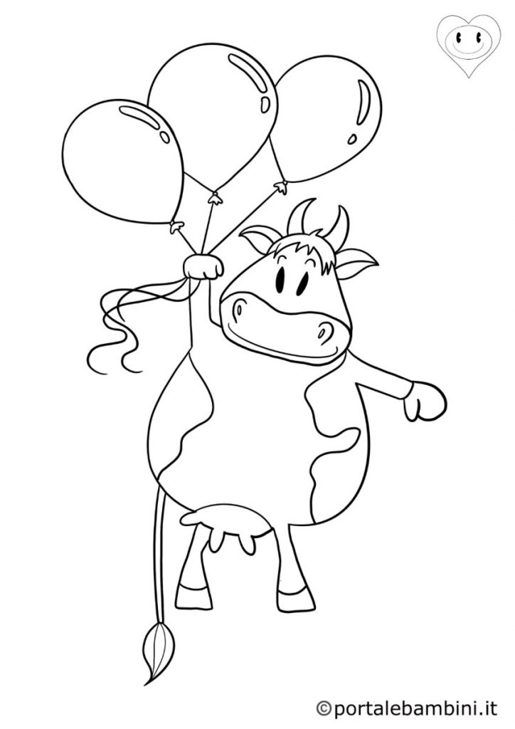 mucche da colorare 2