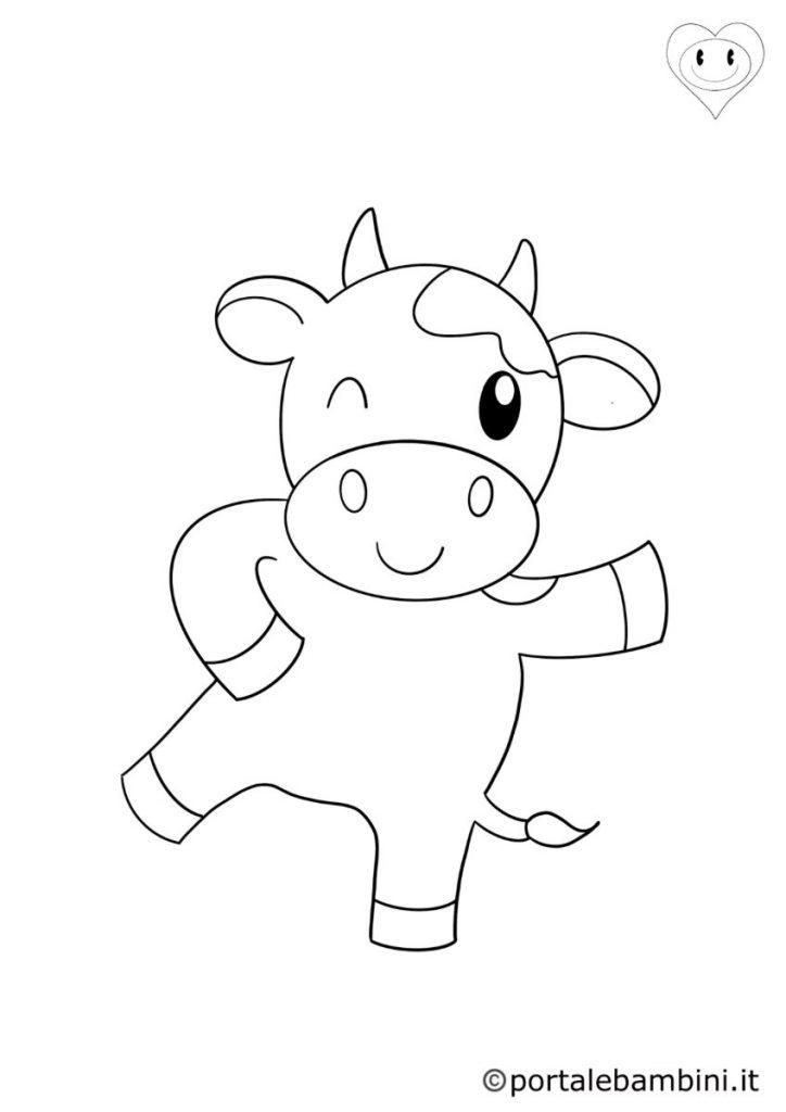 mucche da colorare 1