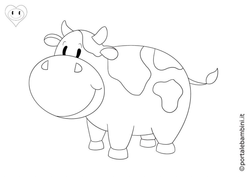 mucche da colorare 4