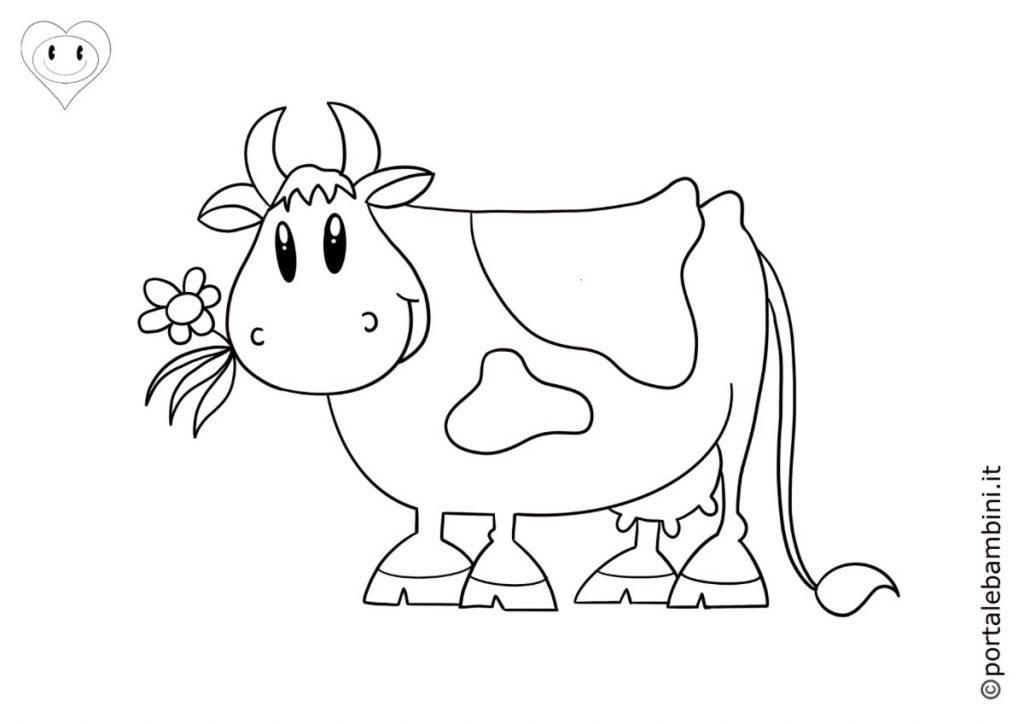 mucche da colorare 5