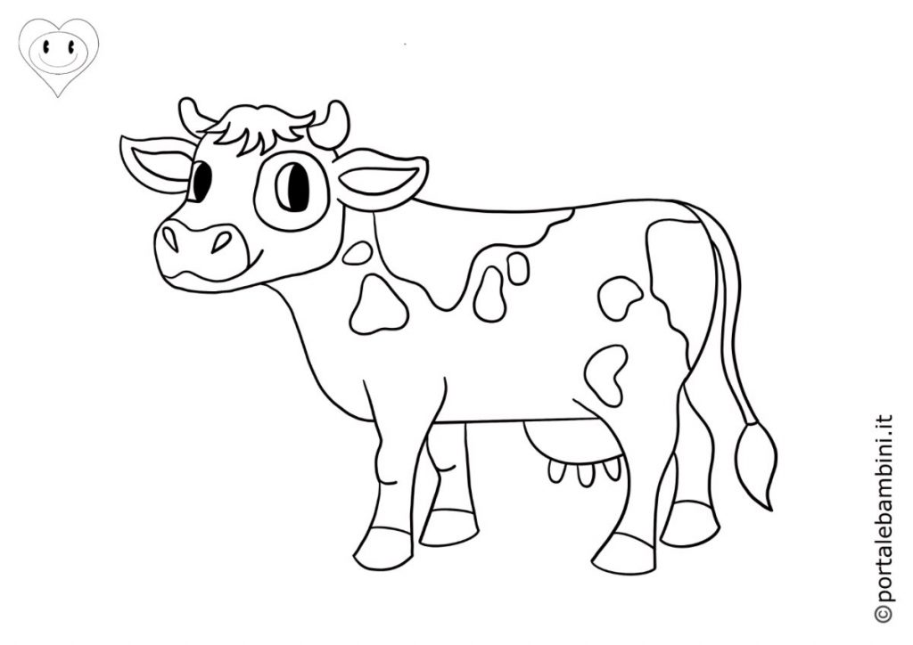 mucche da colorare 6