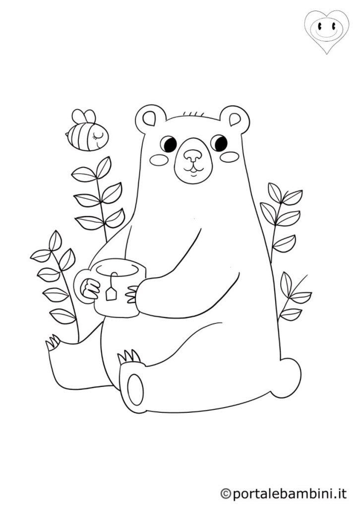 orsi da colorare 1