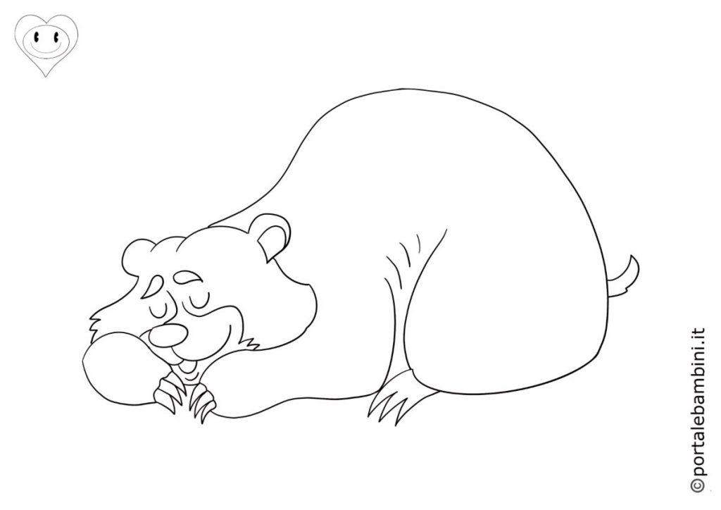 orsi da colorare 4