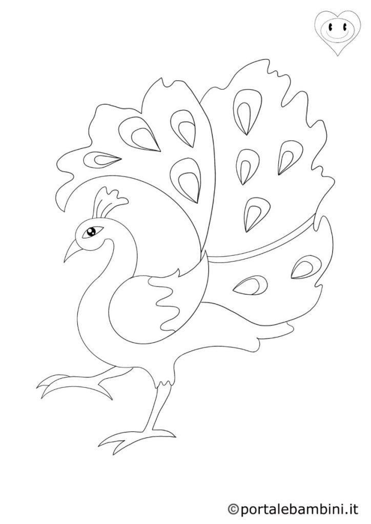 pavoni da colorare 2