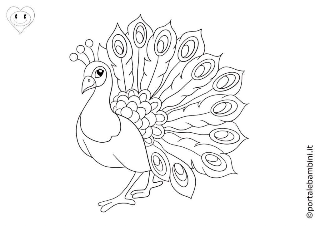 pavoni da colorare 6