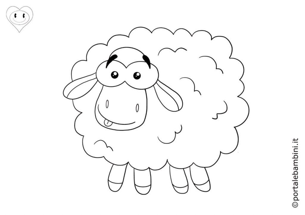pecore da colorare 1
