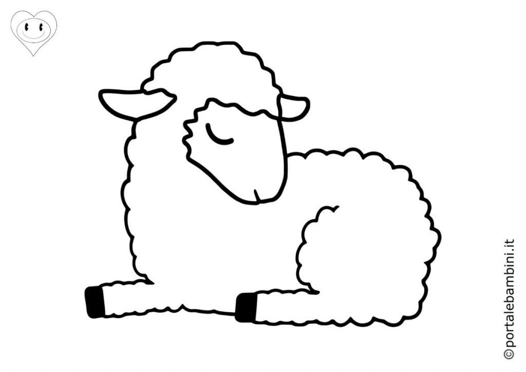 pecore da colorare 2