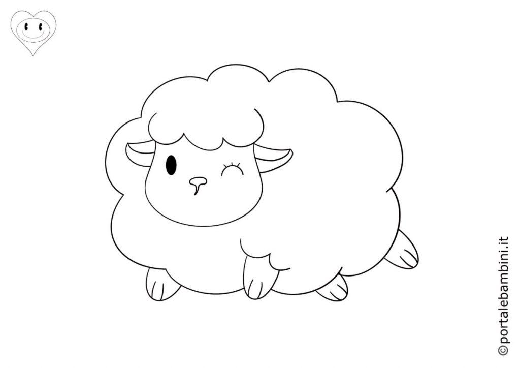 pecore da colorare 3
