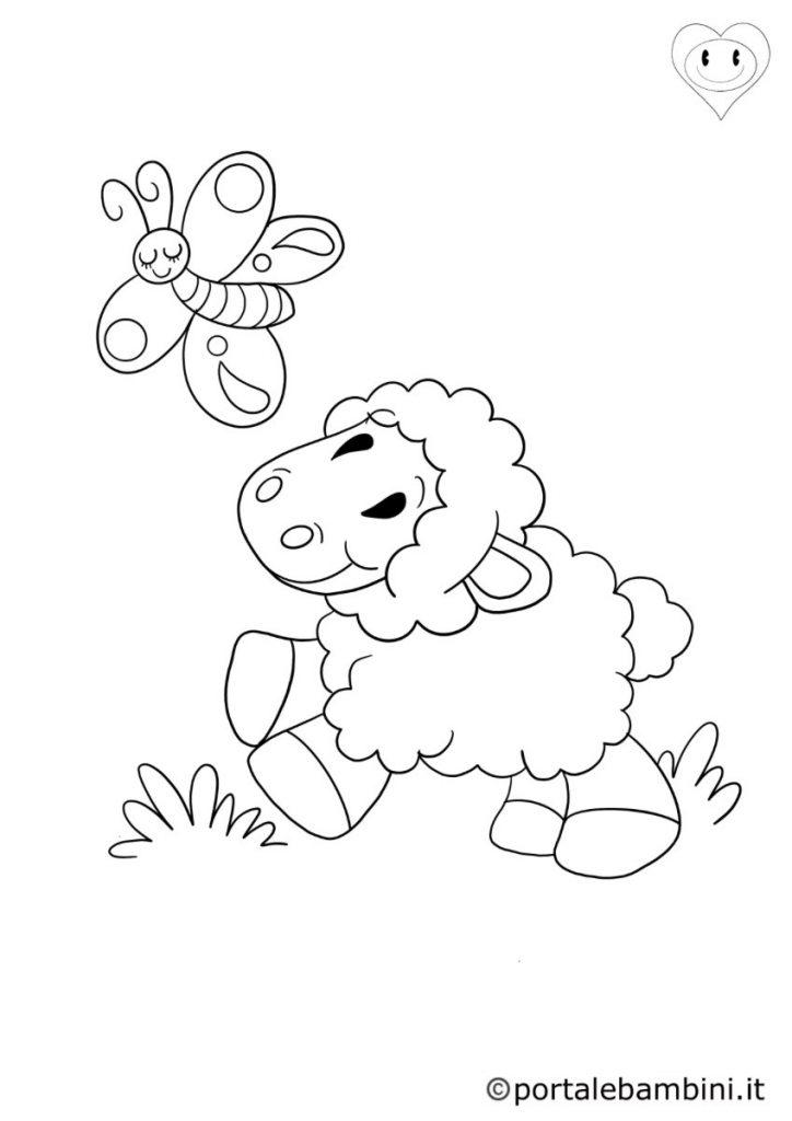 pecore da colorare 5