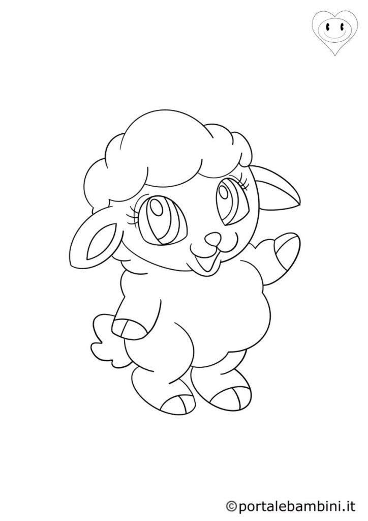 pecore da colorare 6