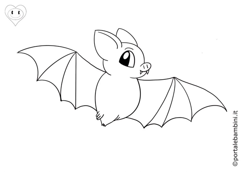 pipistrelli da colorare 4
