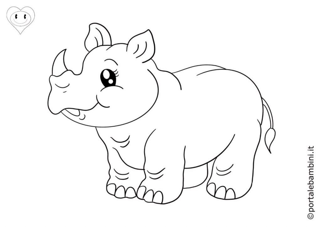 rinoceronti da colorare 1