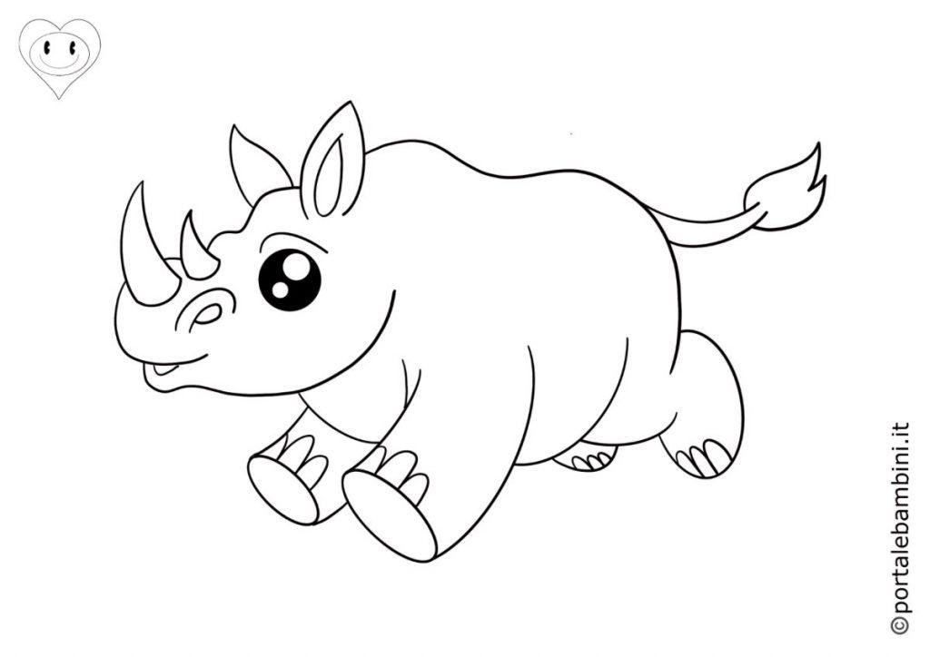 rinoceronti da colorare 2